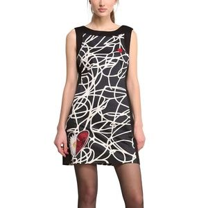 Desigual Luder Noir Fitted Shift Dress